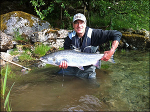 A beautiful female, 9.7Kg. River Olden, Norway 2012...